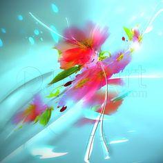 Tableau Numérique: Fleur aérienne une toile de limmagin impression sur dibond, verre acrylique et canvas.