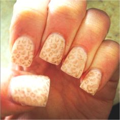 I would normally never get animal print nails.. but these are so pretty.