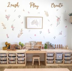 This playroom by features our beautiful bamboo plaques! Ikea Playroom, Ikea Kids Room, Toddler Playroom, Playroom Design, Kids Room Design, Kids Bedroom, Toddler Rooms, Toy Rooms, Baby Room Decor