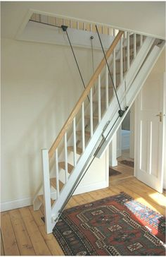 37 The Most Creative Attic Stairs Ideas for Modern Urban Homes Modern Stairs Attic atticst CREATIVE Homes Ideas Modern stairs urban Attic Loft, Loft Room, Attic Rooms, Loft Staircase, Staircase Design, Attic Renovation, Attic Remodel, Attic Stairs Pull Down, Retractable Stairs