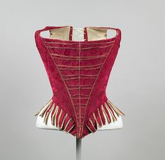 1775-1789 Silk, leather and linen