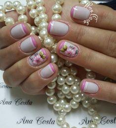 69 Modelos de Unhas Francesinhas Manicure E Pedicure, Toe Nails, Nail Art Designs, Hair Beauty, Nail Polish, Alice, Beautiful, Perfect Nails, Pretty Nails