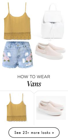 """""""Untitled #244"""" by ines-louu on Polyvore featuring MANGO, Mansur Gavriel and Vans"""