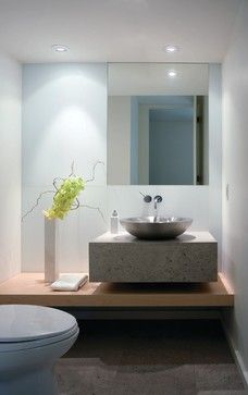 Modern Simplicity - contemporary - powder room - other metro - Everitt Design