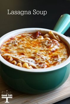 Delicious Lasagna Soup- tastes just like the real thing, with half the effort!