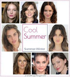 Cool Summer, Summer-Winter seasonal color celebrities by 30somethingurbangirl.com
