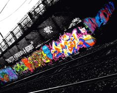 Color in the black graffiti urban art wallpaper | Urban Art Wallpaper