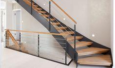 HPL-Dünnwangentreppe mit Holzstufen von Treppenbau VOß