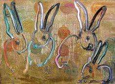 artnet Galleries: Multiple Bunnies (2012, oil on panel) by Hunt Slonem from DTR Modern Galleries