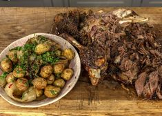 Slow roast lamb is amazingly tender. The rub contains rosemary, coriander, cumin and more for a flavourful twist on your standard Sunday roast. Slow Roast Lamb, Slow Cooked Lamb, Shoulder Of Lamb Recipes, Dried Chillies, James Martin, Sunday Roast, Daily Meals, Cooking Recipes, Amazing Recipes
