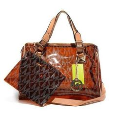 Michael Kors Grayson Plastic Large Brown Satchels Outlet - $74.99
