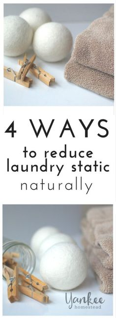As much as I love my wool dryer balls, I must admit they do not get rid of laundry static as I hoped they would. Since I will never ever ever ever ever go back to toxic dryer sheets, I needed a natural solution for static cling in the dryer.