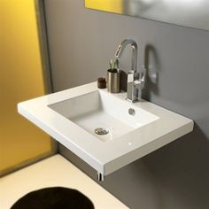 rectangle wall mount modern sink