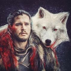 """rigby-floyd: """" """"He is the White Wolf! The King in the North! Arte Game Of Thrones, Game Of Thrones Poster, Game Of Thrones Books, Casa Stark, House Stark, Eddard Stark, Mejores Series Tv, Game Of Throne Actors, Game Of Trones"""