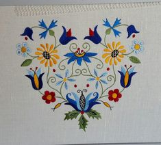 Kaszubian Floral Design with Tulipan in by AmericanKaszuby on Etsy