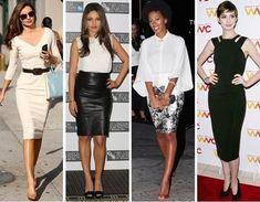 celebrities weare modern pencil skirt, Miranda kerr (in a monochomatic cream combo).