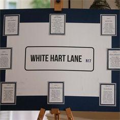 Tottenham themed wedding White Hart Lane, Wedding Images, Wedding Pictures, Wedding Day, Wedding Blue, Real Couples, Tottenham Hotspur, Wedding Receptions, Table Plans