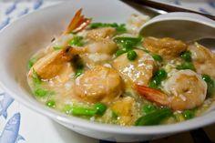 "3 hungry tummies: Egg Tofu, Prawns And Peas In Silky Egg Sauce 滑蛋蝦球玉子豆腐 - ""Malaysian Monday 79"""
