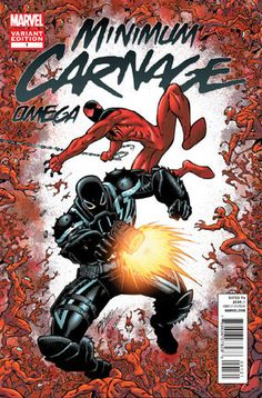 Carnage and the symbiote hybrid clone army emerge into the Macroverse into a galleria in...