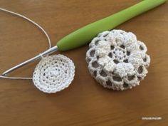 【無料編み図】パプコーン編みのくるみヘアゴム