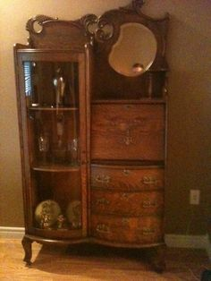 Antique Desk China Cabinet Great Grandma Had One Of These