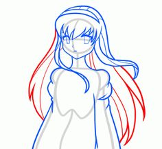 How to Draw an Anime Angel, Angel Girl, Step by Step, Fantasy Characters, Fantasy, FREE Online Drawing Tutorial, Added by Dawn, April 12, 2012, 12:49:22 am