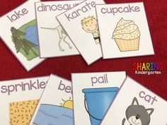 Sequencing cards for the book, If You Give a Cat a Cupcake