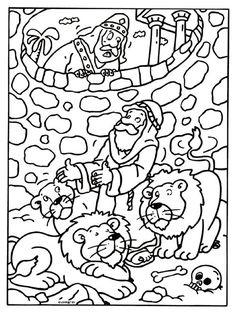 Kleurplaat Daniel - bijbelse figuren - Kleurplaten.nl
