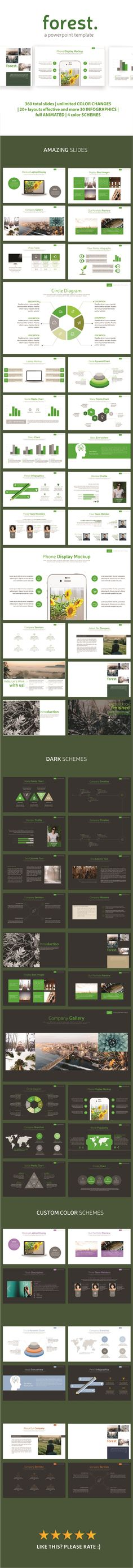 Forest PowerPoint Template. Download here: https://graphicriver.net/item/forest-powerpoint-template/17126875?ref=ksioks