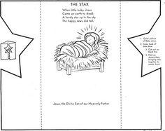 Jesus - Manger - Star - Card/Craft - Creative Kidstuff: 12 Days of Christmas - Day Baby Jesus Christmas Activities For Kids, Preschool Christmas, Christmas Nativity, 12 Days Of Christmas, Kids Christmas, Christmas Bible, Christmas Cards, Jesus Crafts, Bible Crafts