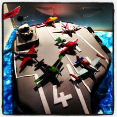 Andrew's disney planes airplane carrier cake