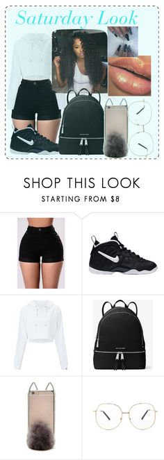 """""""Saturday Look"""" by reddasia on Polyvore featuring NIKE, Miss Selfridge, MICHAEL Michael Kors and Forever 21"""
