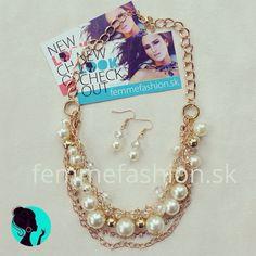 Perličkový náhrdelník Pearl Love s náušnicami. http://femmefashion.sk/nahrdelniky/932-nahrdelnik-pearl-love.html