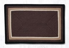 """ITC-08 Cocoa/Black/Natural In The City Oblong Rug 20""""""""x30"""""""""""