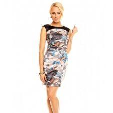 Цветна рокля със сатенен ефект
