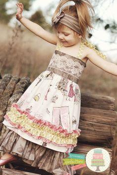Chocolate Eclair Halter Dress  Sizes 12m thru 5t by 3tsnme on Etsy, $38.00