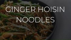This is one of those amazing throw together in a jiffy recipes that is easy to make and absolutely delicious to eat. #udon #noodles #ginger #hoisin Jiffy Recipes, Food Videos, Noodles, Eat, Macaroni, Noodle, Pasta