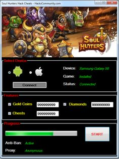Your searched Free Coins and Diamonds Soul Hunters: working on iOS and Android. The Free Coins and Diamonds Soul Hunters can be activated from Windows and Mac computers.