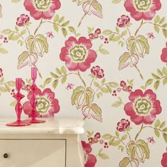 30 Beautiful Floral Bedroom Wallpaper Inspirations Pink Striped
