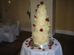 At Clearwell Castle, 8 Tiers of #chocochaicake, wrapped in Ivoire white chocolate...
