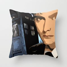 Dr Who 50th anniversary * Tenth Doctor * Tv Series Inspiration Throw Pillow by Freak Shop - $20.00
