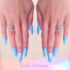 Blue Stiletto Nails- LOVING the stiletto nails