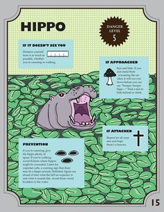 A Survival Guide For Animal Encounters because you're for sure going to encounter a hippo.