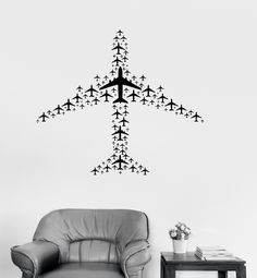 Vinyl Decal Airplane Flight Airport Aircraft Travel Wall Sticker Mural (ig3073)