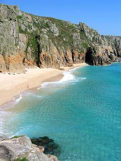 Pedn Vounder beach, Cornwall, England, worth the steep climb down to the beach