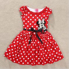 Cheap clothing dye, Buy Quality dress aurora directly from China clothing gothic Suppliers: New 2014 Baby Girl Summer Dress Girls Minnie Mouse Pink Red Dress Girl's Casual Party Dress tutu Baby Outfits, Kids Outfits Girls, Toddler Girl Dresses, Girls Dresses, Kids Girls, Baby Girls, Toddler Girls, Disfraz Minnie Mouse, Mickey Mouse