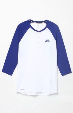 Dri-FIT 3/4 Sleeve Henley T-Shirt