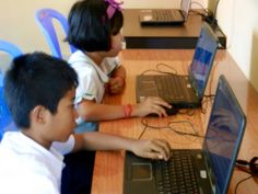 #FKC computer lab on the #TWCCTW spring tour 2015.  Future of Khmer Children supports marginalized children in #Cambodia by providing them with free education until age 20.  The foundation also supports poor families in the region with basic medical care and education!