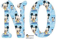 Festa Mickey Baby, Mickey Party, Letras Do Mickey, Alfabeto Disney, Mickey Baby Showers, Mickey 1st Birthdays, Baby Shawer, Christmas Frames, Baby Mouse