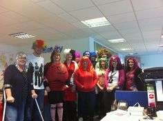 The UniServity Team in their Red Nose Day wigs